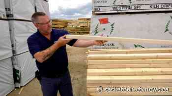 'We are cleaned out': Lumber cost on the rise, Saskatoon business says