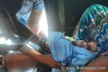Mulher dá à luz dentro de carro em posto de combustível - Metrópoles