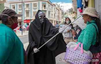 Municipio de Loja utiliza a la representación de la muerte en campaña contra el covid-19