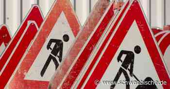 Vollsperrung der Straße zwischen Ostrach und Altshausen - Schwäbische