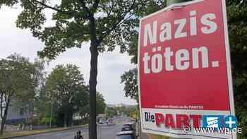 """Wirbel um Partei-Werbung mit Slogan """"Nazis töten"""" in Hagen - WP News"""
