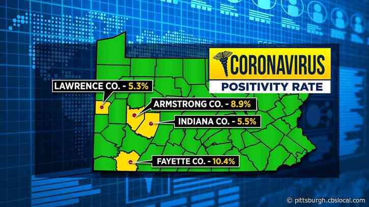 Fayette Co. Currently Has Highest Positivity Rates Of Coronavirus In Pennsylvania