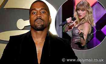 Kanye West makes a subtle dig at his feud with Taylor Swift in ANOTHER rambling Twitter rant