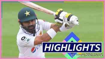 England v Pakistan highlights: Mohammad Rizwan hits fifty as bad light stops play