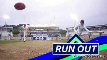 England v Pakistan: Shaheen Afridi run-out by Sibley