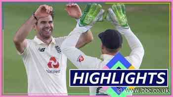 England v Pakistan highlights: James Anderson leads the way as England get their noses in front on a rain-affected day