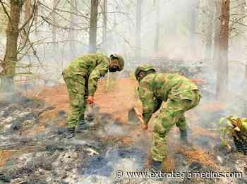 Ejército Nacional apoyó labores para apagar incendio en Cucunubá - Extrategia Medios