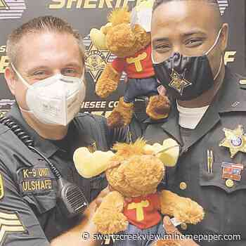 Sheriff's Office receives Tommy Moose toy donation for kids   Swartz Creek View - Burtonview