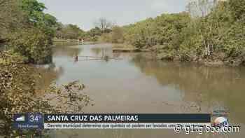 Moradores de Santa Cruz das Palmeiras só podem lavar os quintais uma vez por semana - G1