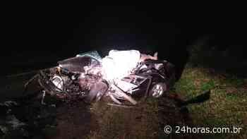 Batida entre carro e caminhão deixa um morto entre Porecatu e Florestópolis - 24Horas
