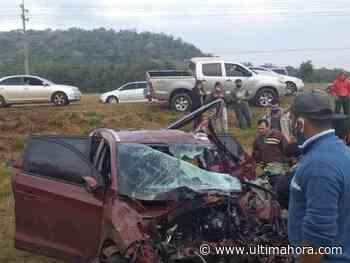 Grave accidente de tránsito deja heridos en Mbocayaty - ÚltimaHora.com
