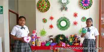 Qali Warma: estudiantes de Túcume elaboran adornos navideños con residuos sólidos - Radio Nacional del Perú