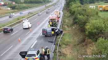 Unfall auf A7: Aquaplaning - Mann übersieht Wasserlache und verliert Kontrolle - hna.de