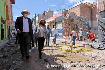 Mejoran con obras calles del Pueblo Mágico Comonfort - Noticias Gobierno del Estado de Guanajuato