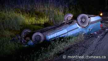 23-year-old driver dead after losing control on a curved Napierville road - CTV News Montreal