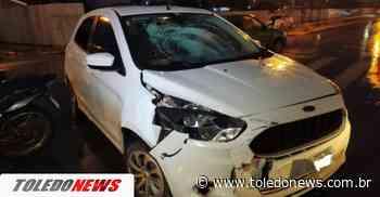 Motociclista fica ferido após colisão com carro no Jardim Concordia - Toledo News