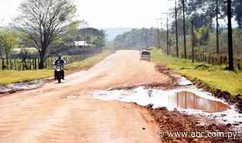 Piden asfaltado de vía que une compañías de Abaí - Nacionales - ABC Color