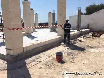 """Un chiosco bar in cemento a Torre Lapillo, cantiere """"bloccato"""" e 3 persone deferite - Leccenews24"""