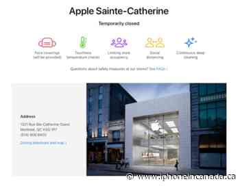 COVID-19 Shuts Down Sainte-Catherine Apple Store, Montreal Until Further Notice [u] - iPhone in Canada