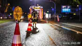 Unfall B28 zwischen Kusterdingen und Jettenburg: Vollsperrung: Drei Schwerverletzte - Hubschrauber im Einsatz - SWP