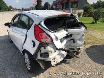SAN GIORGIO-SAN GIUSTO CANAVESE - Scontro auto-moto sulla provinciale: centauro ferito ricoverato al Cto - QC QuotidianoCanavese
