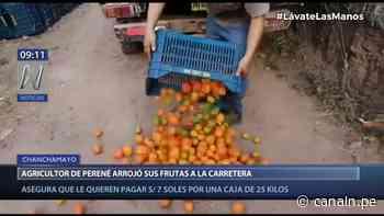 Chanchamayo: Agricultor de Perené arrojó sus frutas a la carretera por pérdida de inversión - Canal N