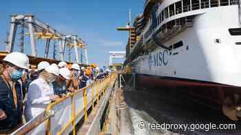 MSC Cruises floats out the Seashore