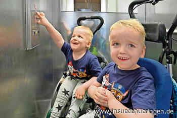 Zwillinge Nicklas und Luca: Der Fahrstuhl ist fertig - inSüdthüringen