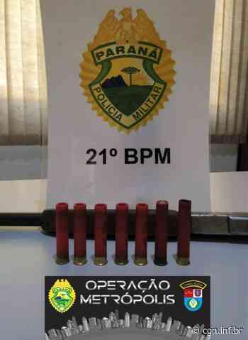 Operação Metrópolis: PM apreende espingarda e munições em Santa Izabel do Oeste - CGN