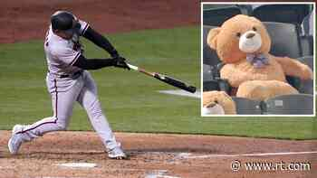 Grin and bear it! TEDDY BEAR goes viral after getting hit with foul ball in baseball game (VIDEO) - RT