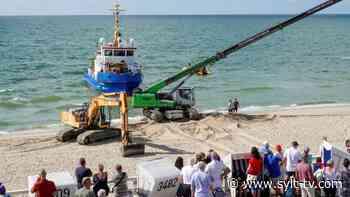 Havariertes Schiff nach Unfall am Strand von Westerland/Sylt - Livestream - Sylt TV