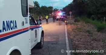 Motociclista murió en accidente de tránsito en la vía Aguazul- Maní - Noticias de casanare - La Voz De Yopal