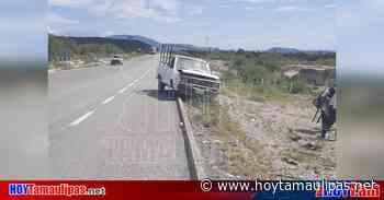 Conductor se lesiona tras accidente carretero en Tula, Tamaulipas - Hoy Tamaulipas