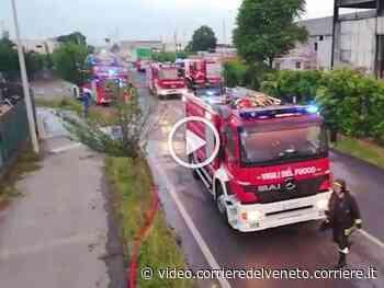 Vicenza, incendio devasta ecocentro a Sandrigo video - Corriere della Sera