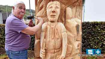 Netphen: Friedrich Hahn macht aus Baumstamm 3-Meter-Skulptur - Westfalenpost