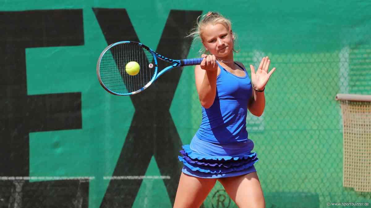 Dresdner Tennistalent Schön im neuen Tenniszentrum in Espenhain in Topform - Sportbuzzer
