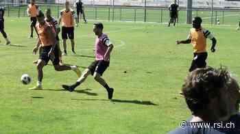 Danijel Milicevic si allena a Cornaredo - Rsi