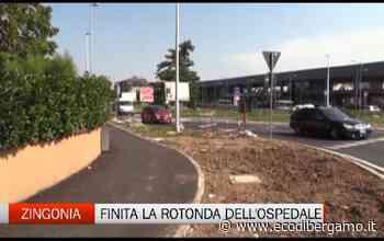 Osio Sotto: finita la rotonda del Policlinico - L'Eco di Bergamo