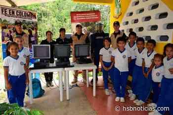 En El Doncello, Caquetá, el Ejército trabaja en pro de la enseñanza y aprendizaje de niños | HSB - HSB Noticias