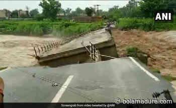 Di Jammu, Jembatan Beton Di Sungai Runtuh Setelah Hujan Lebat - Bolamadura.com
