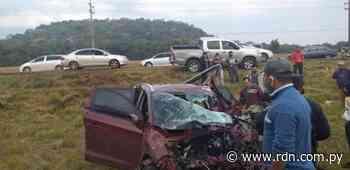 Accidente en Mbocayaty deja dos heridos - Resumen de Noticias