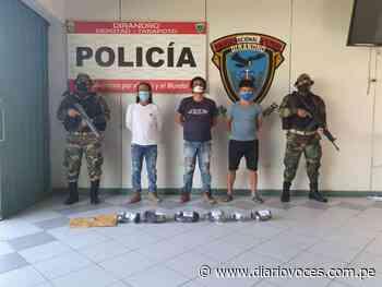 Intervienen en Yurimaguas a tres sujetos con más de 13 kilos de PBC - Diario Voces