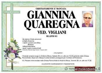 Giannina Quaregna Ved. Vigliani - newsbiella.it