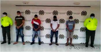 Capturan a cuatro integrantes de la banda 'Los Caimanes' en Ciénaga y juez les da casa por cárcel - Seguimiento.co