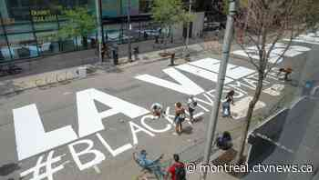 Black Lives Matter painted on Montreal's Sainte-Catherine Street, joining global movement - CTV Montreal