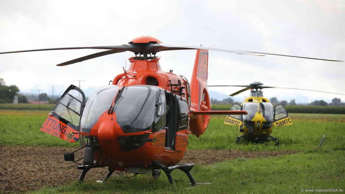 Schwerer Unfall bei Tittmoning - Zwei Hubschrauber im Einsatz - rosenheim24.de