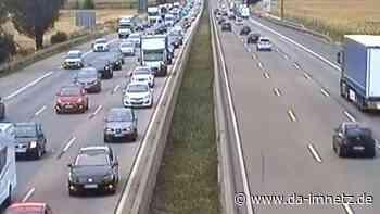 Stau nach Unfall auf A5 bei Friedberg: Nur eine Spur frei - DA-imNetz.de