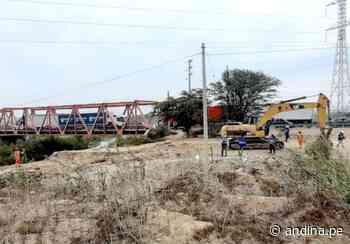 Lambayeque: resaltan avances en rehabilitación del puente Reque - Agencia Andina