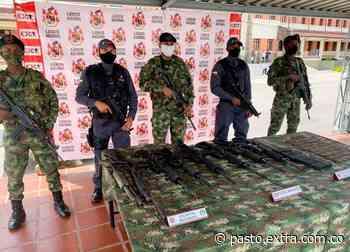 Incautaron armamento a disidentes en Taminango, Nariño - Extra Pasto