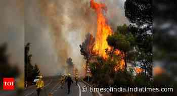 Wildfire forces 2,400 to evacuate in Spain's Andalusia